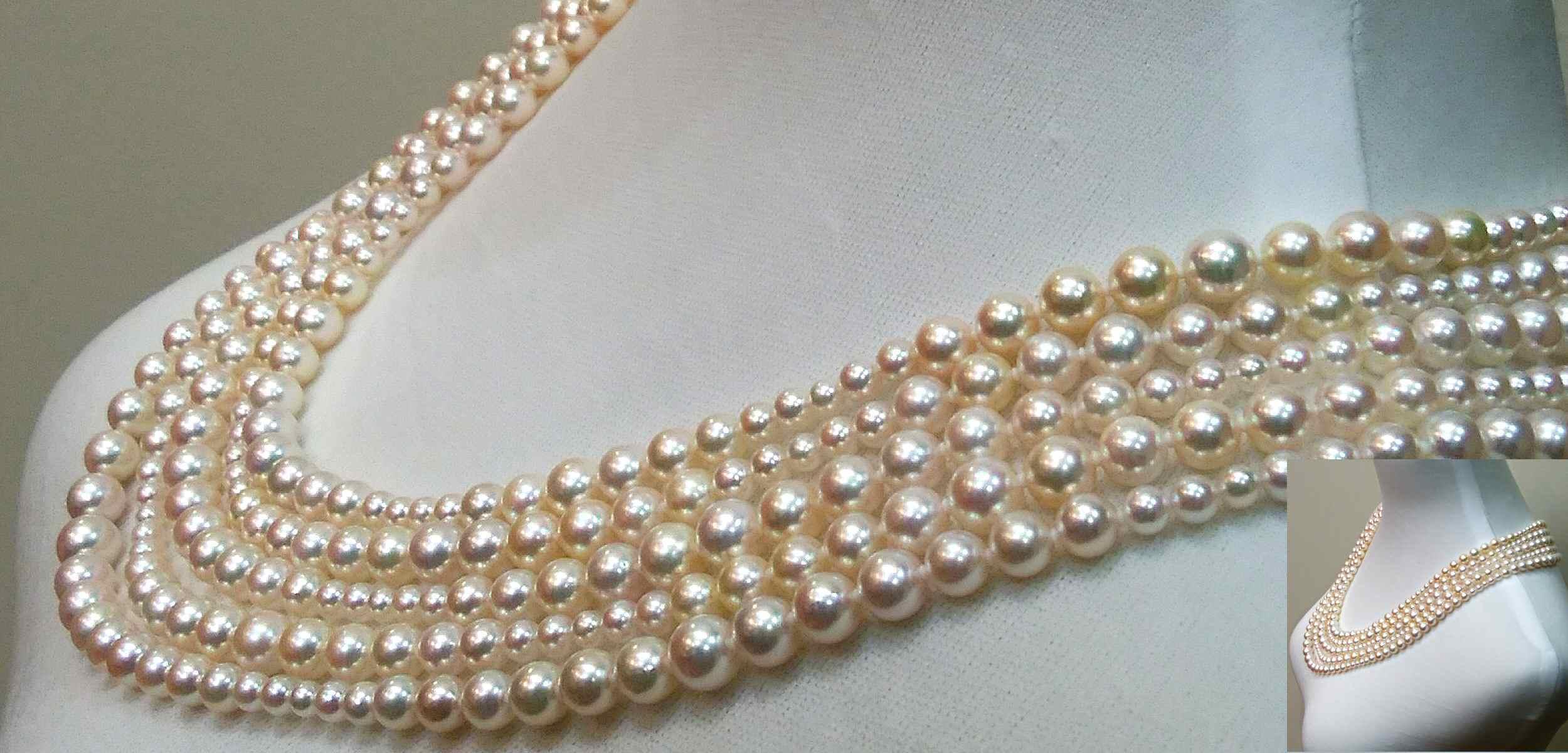 アコヤケシ真珠のネックレス